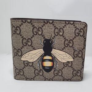Gucci brown bee wallet